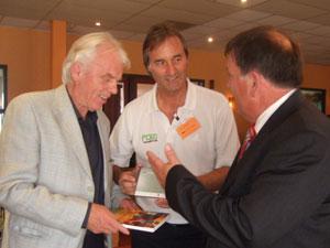 Peter Schreiner hier mit Leo Beenhakker und Piet van de Kerckhoff