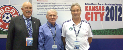 Peter Schreiner with Jay Martin (Soccer Journal) and Jürgen Meyer (Publisher)