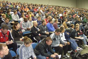 More than 2000 coaches watched the prctical session of Ralf Peter
