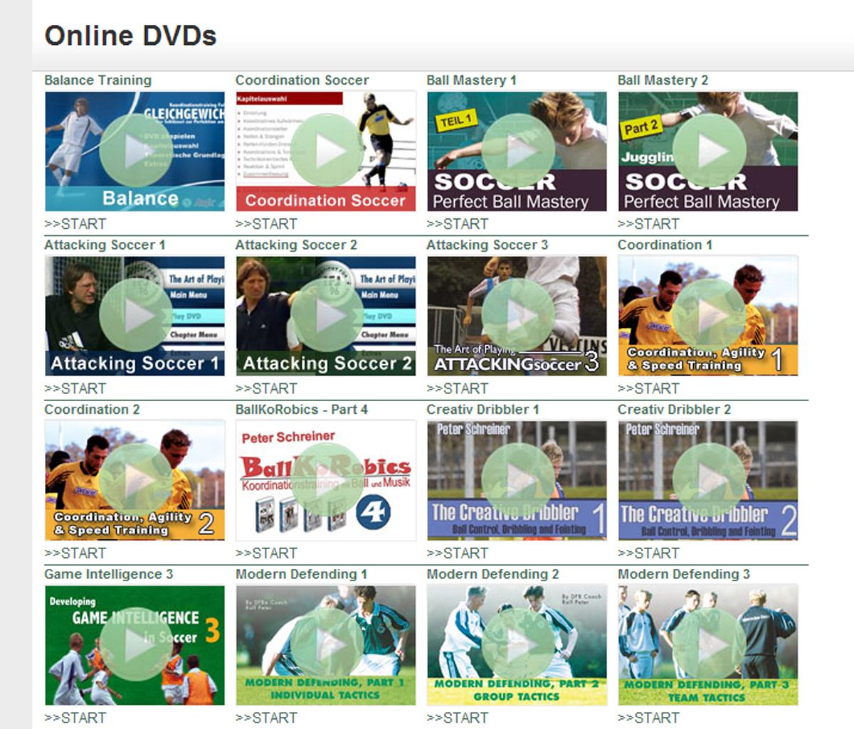 Soccer DVDs online