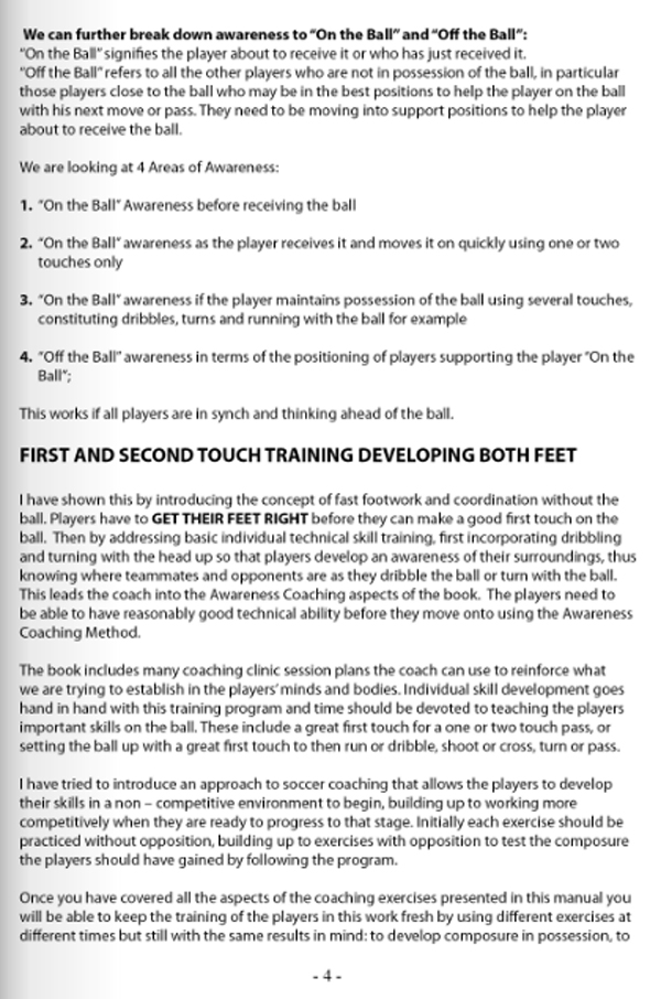 Soccer Awareness - Developing the THINKING player - page 4