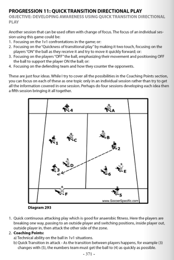 Soccer Awareness - Developing the THINKING player - page 371
