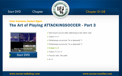 Soccer DVD Attacking Soccer 3 - Menu 1