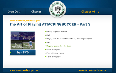Soccer DVD Attacking Soccer 3 - Menu 2