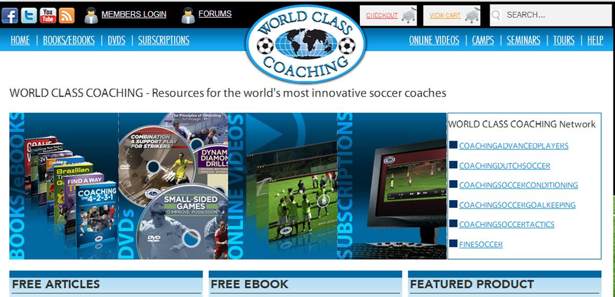 soccer books - soccer videos - soccer DVDs - Online Products