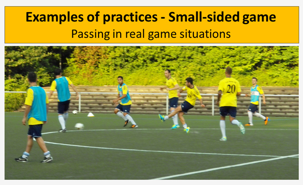 Soccer Training: Passing in real game situations