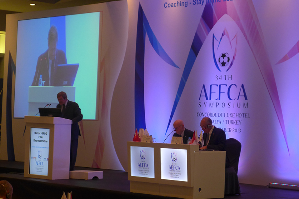 Walter Gagg (FIFA Adviser and President of AEFCA)