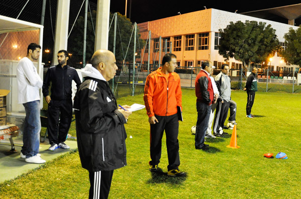 Hani Al Saquer and Nasser Alomran (on the left- former national player Kuwait)