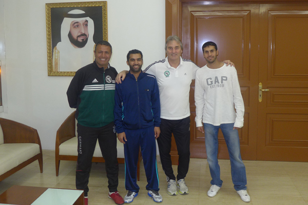 Mohamed Afifey (Organisation and translation), Nasser Alomran (former National Player Kuwait), Peter Schreiner (Presenter, Germany), Hani Al Saquer (former National Player Kuwait)