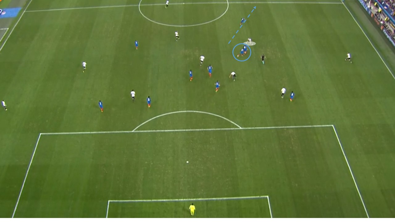 EM 2016 Match Analysis: Germany – France 0:2 - graphic 2