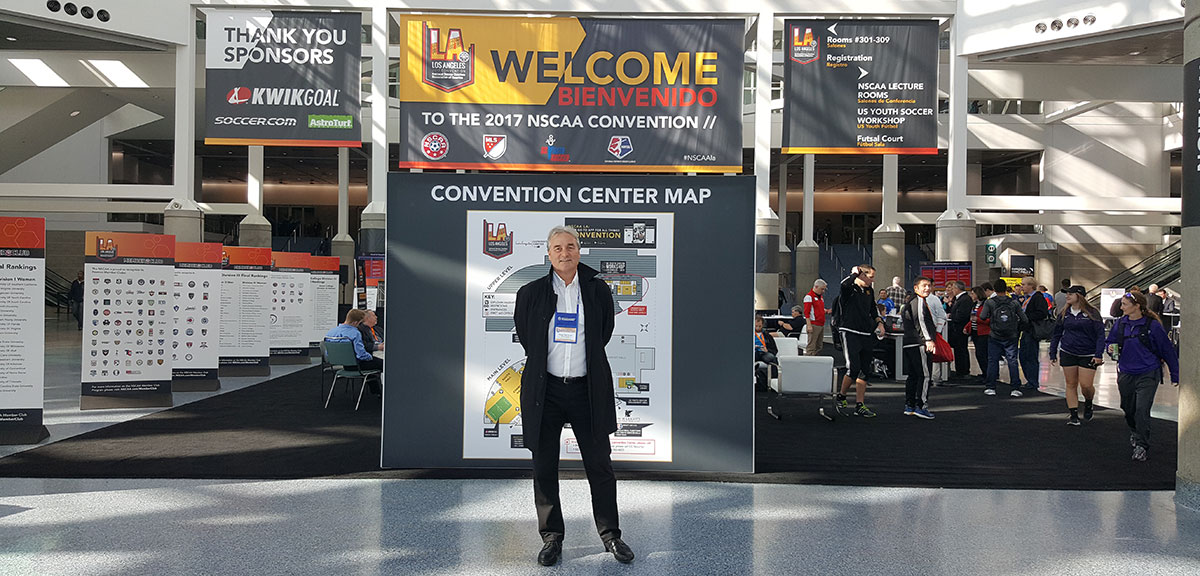 Peter Schreiner at the end of the NSCAA Convention 2017