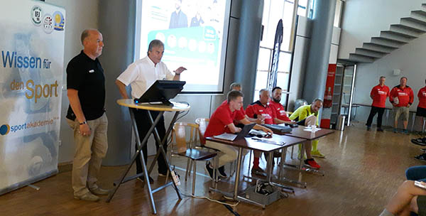 Peter Schreiner (Congress manager) and Joachim Böhmer (Derbystar) and some of the presenters while opening the congress