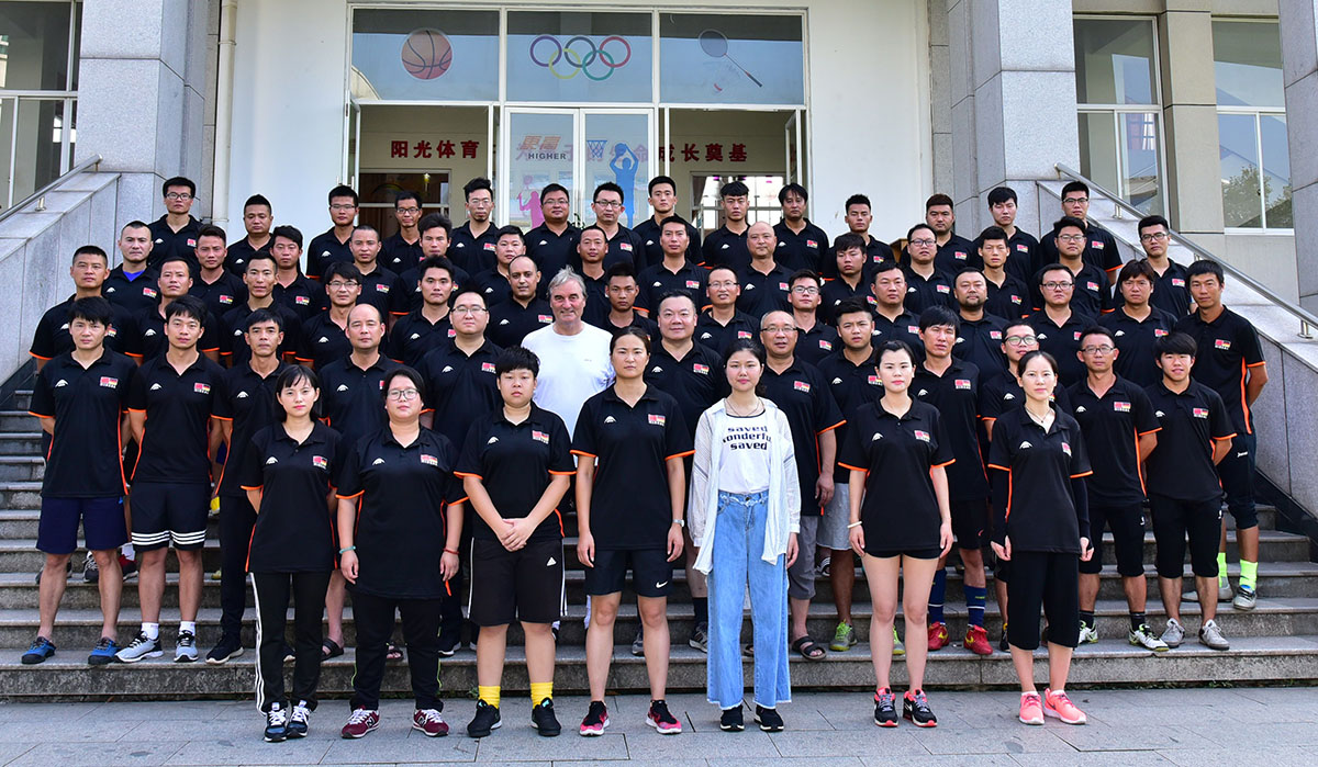65 Coaches and teaches take part at the seminar series of 7 days with Peter Schreiner in Yiwu (Close to Shanghai)