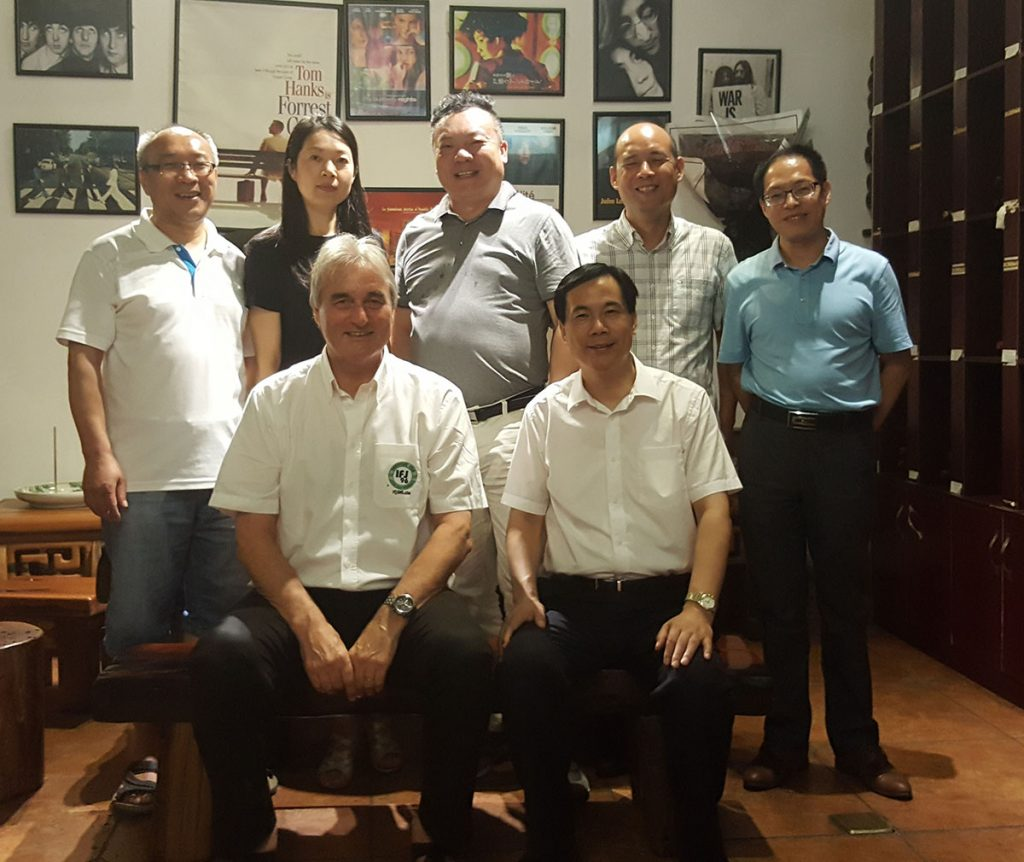 Great dinner with Wang Jianxin (Director of Education in Yiwu) and the Organizing team with Peter Schreiner