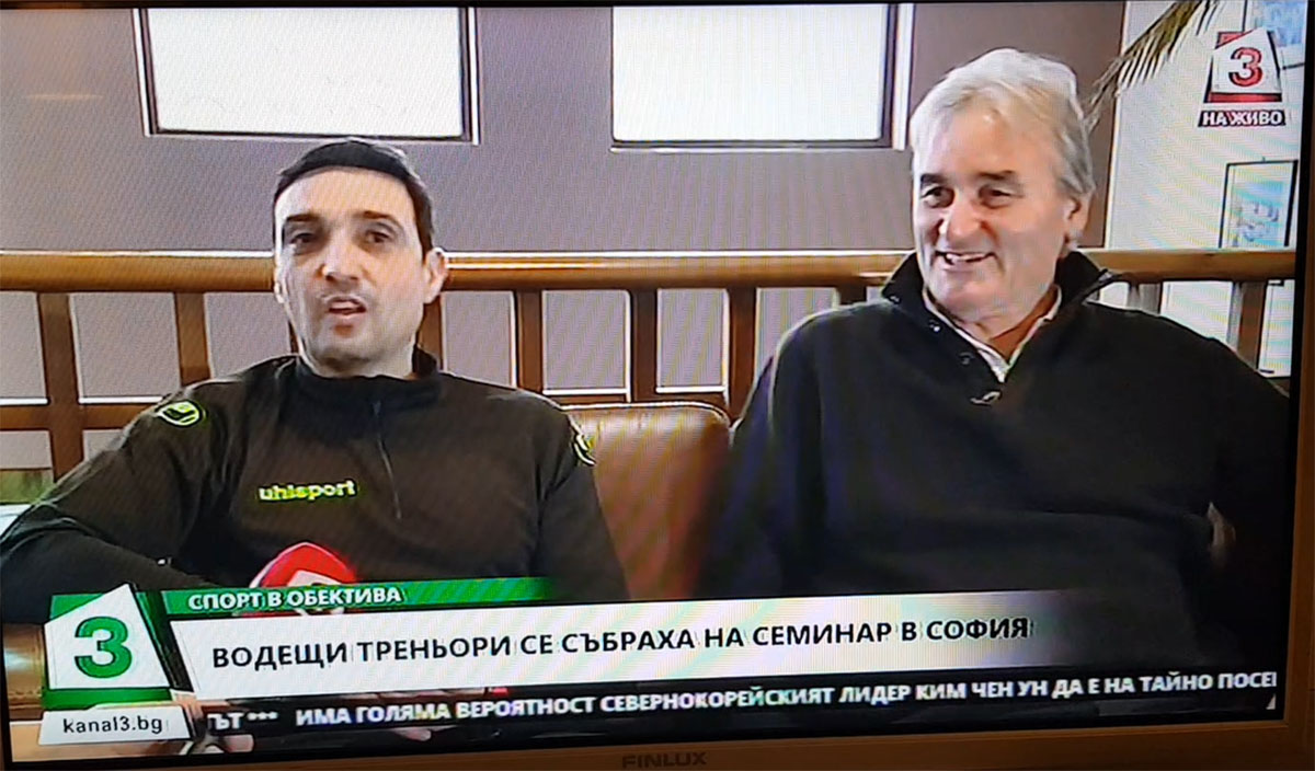 Peter Schreiner - Interview in Television of Bulgaria and Nikolay Iliev translated him.