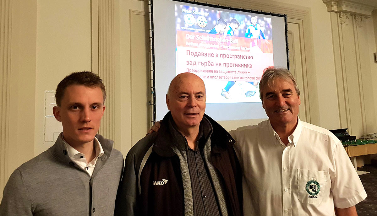 Steven Turek, Dr. Yuri Nikolov (Director of Soccer Education in Bulgaria) and Peter Schreiner