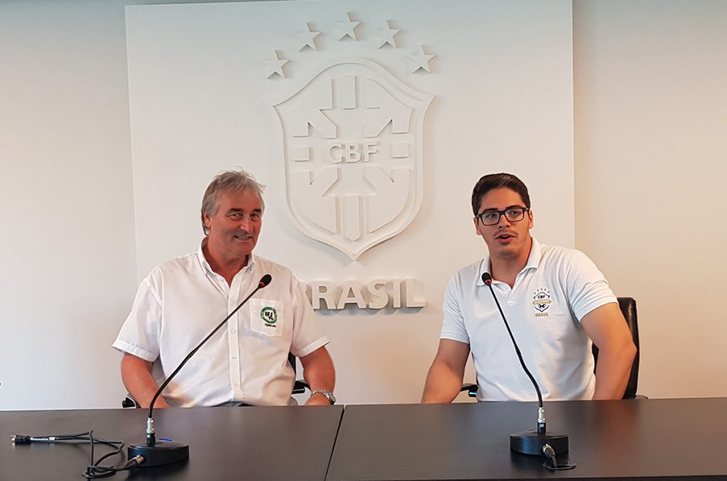 Henrique Daimond and Peter Schreiner here in the press room of the training centre of the CBF.