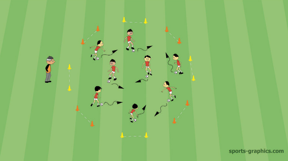 Soccer Drill for Kids - Goal Hunt
