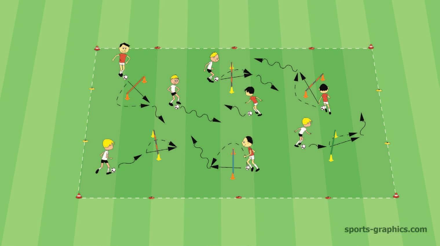 U10 Soccer Hurdle Game