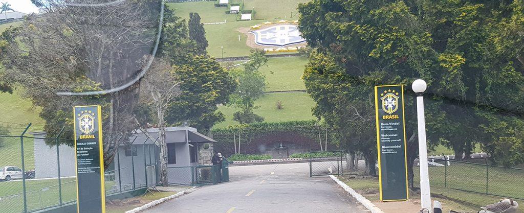 Hier die Eingangskontrolle des Ausbildungszentrums brasilianischen Fußballverbandes